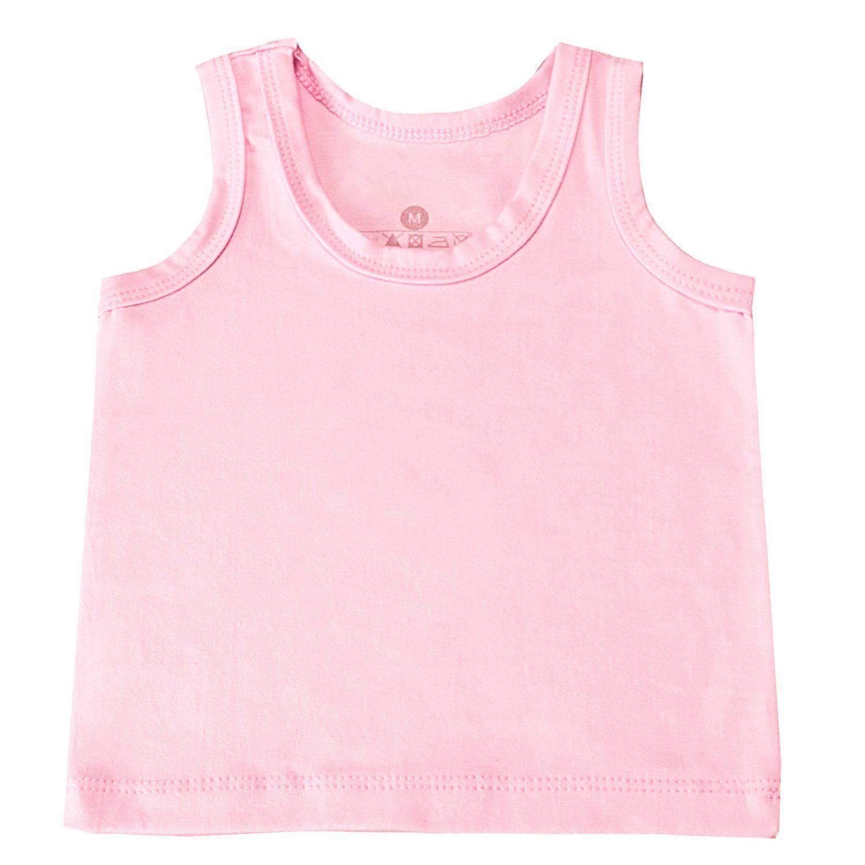 Camiseta Regata Rosa Recém-Nascido a 3 Meses