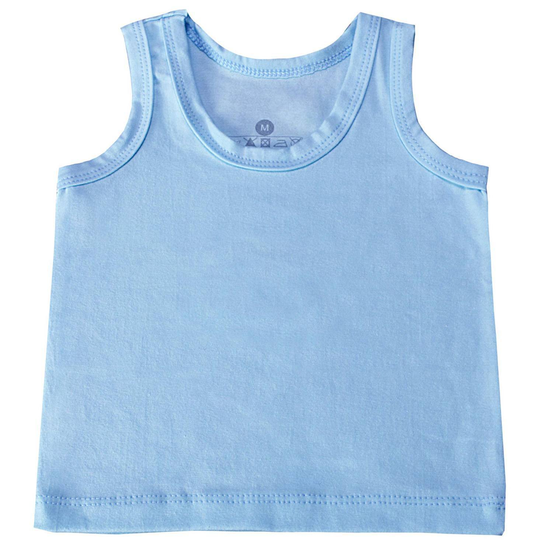 Camiseta Regata Azul 9 a 12 Meses