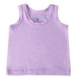 Camiseta Regata Lilás 3 a 6 Meses