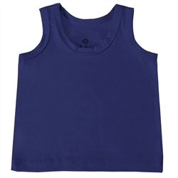 Camiseta Regata Marinho 3 a 6 Meses