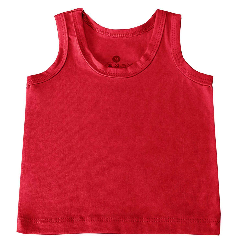 Camiseta Regata Vermelho Recém-Nascido a 3 Meses