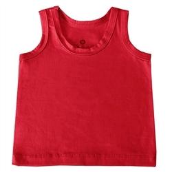 Camiseta Regata Vermelho 6 a 9 Meses