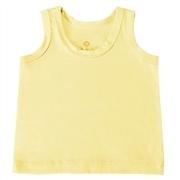 Camiseta Regata Amarelo 3 a 6 Meses