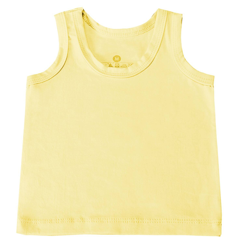 Camiseta Regata Amarelo 6 a 9 Meses