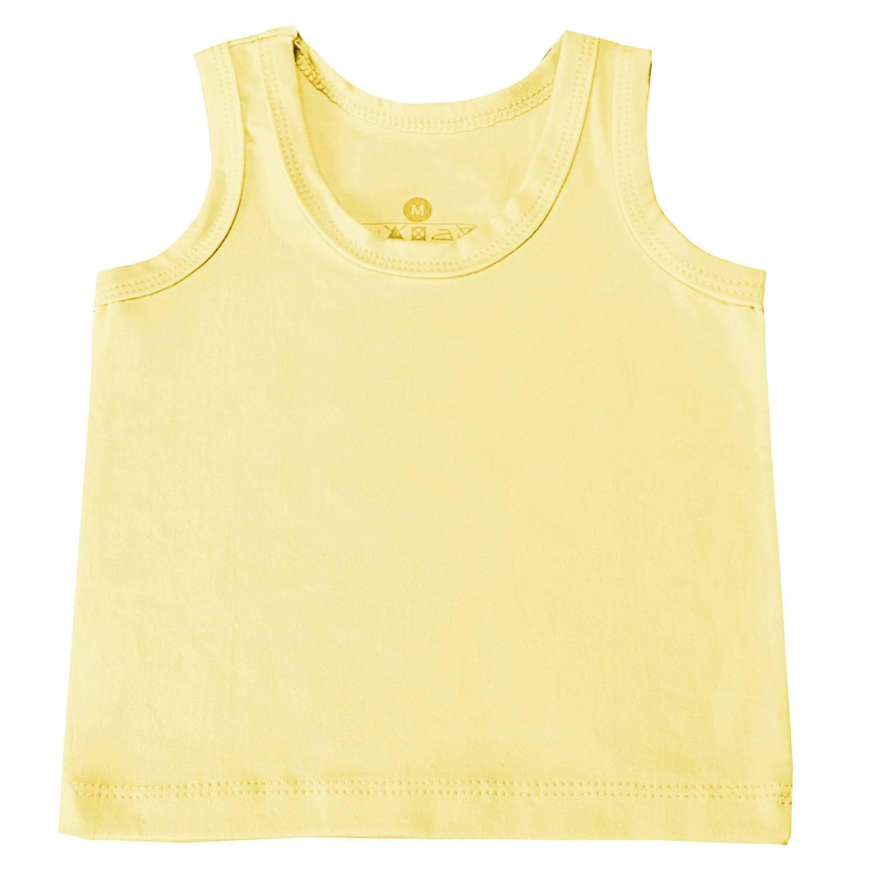 Camiseta Regata Amarelo 12 a 15 Meses