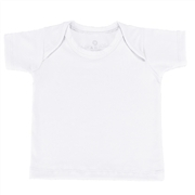Camiseta Manga Curta Branca 3 a 6 Meses