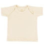 Camiseta Manga Curta Palha Recém-Nascido a 3 Meses