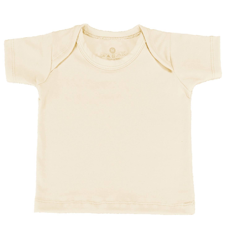 Camiseta Manga Curta Palha 9 a 12 Meses