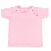 Camiseta Manga Curta Rosa 9 a 12 Meses