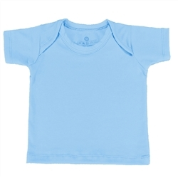 Camiseta Manga Curta Azul Recém-Nascido a 3 Meses