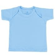 Camiseta Manga Curta Azul 3 a 6 Meses