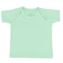 Camiseta Manga Curta Verde Recém-Nascido a 3 Meses