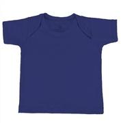 Camiseta Manga Curta Marinho 6 a 9 Meses