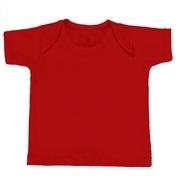 Camiseta Manga Curta Vermelho 9 a 12 Meses