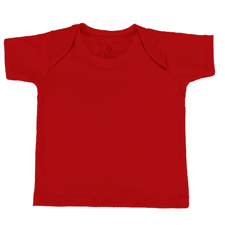 Camiseta Manga Curta Vermelho 12 a 15 Meses