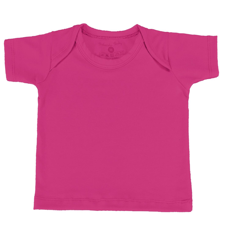 Camiseta Manga Curta Pink 6 a 9 Meses