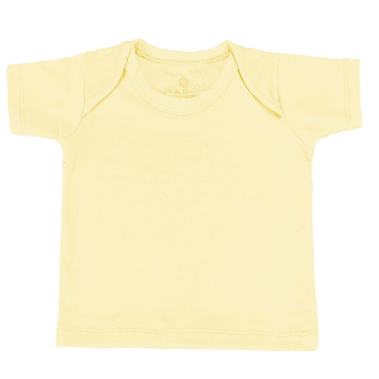 Camiseta Manga Curta Amarelo Recém-Nascido a 3 Meses