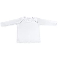 Camiseta Manga Longa Branca 3 a 6 Meses