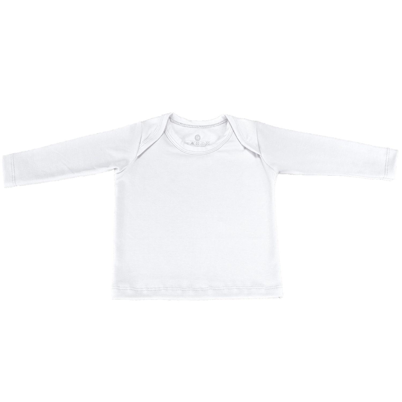 Camiseta Manga Longa Branca 12 a 15 Meses