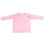 Camiseta Manga Longa Rosa 6 a 9 Meses