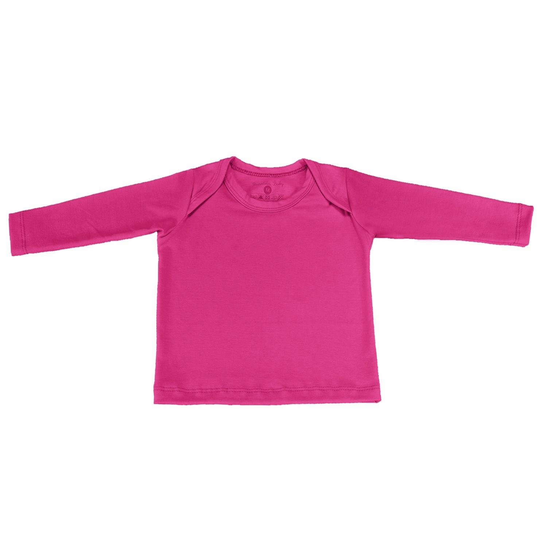 Camiseta Manga Longa Pink 6 a 9 Meses