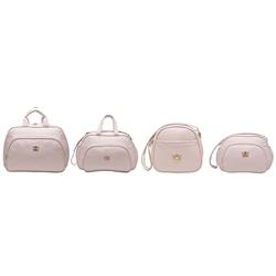 Conjunto de Bolsas Maternidade Arabesco Rosa