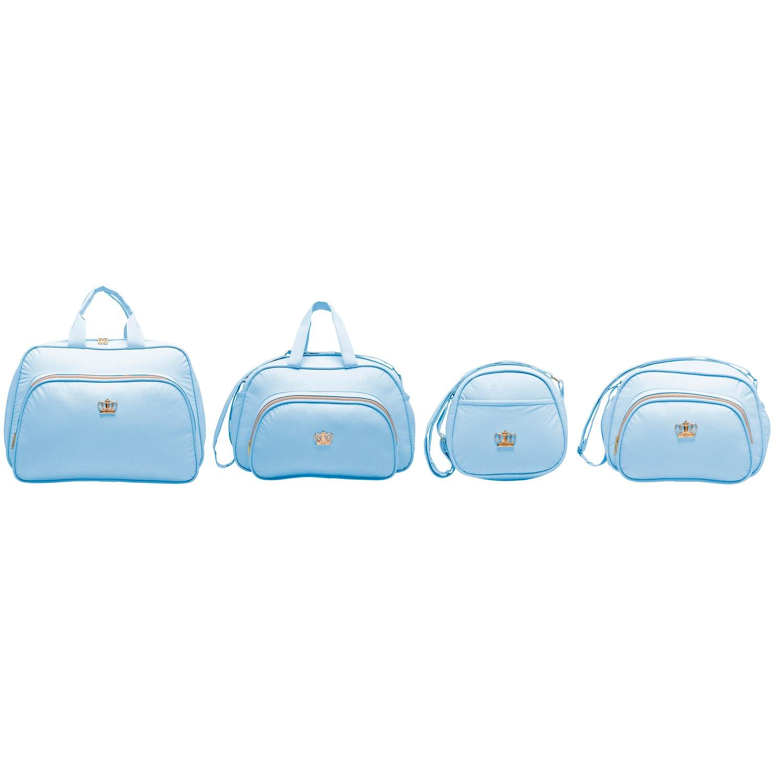 Conjunto de Bolsas Maternidade Arabesco Azul