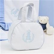 Bolsa Maternidade Realeza Azul e Branco
