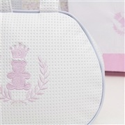 Bolsa Maternidade Realeza Branco e Rosa