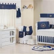 Quarto para Bebê sem Cama Babá Coroa Brasão Marinho