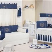 Quarto para Bebê Coroa Brasão Marinho