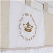 Cortina Coroa Brasão Xadrez Bege