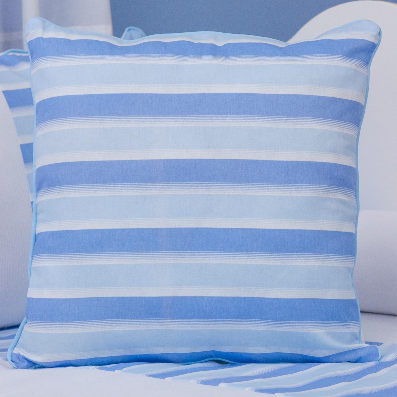 Almofada Listrada Veleiro Azul Claro