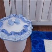 Lixeira Veleiro Azul Claro