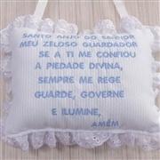 Enfeite Oração Santo Anjo Veleiro Azul Claro