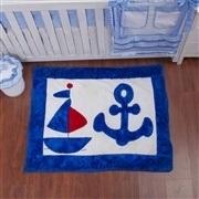 Quarto para Bebê sem Cama Babá Veleiro Azul Claro