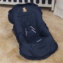 Capa de Bebê Conforto Realeza Marinho Premium