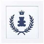 Quadro Decorativo Realeza Marinho Premium