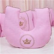 Almofada para Amamentação Coroa Brasão Rosa