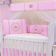 Quarto para Bebê Coroa Brasão Rosa