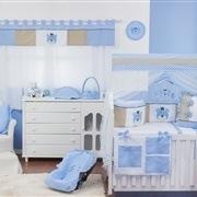 Quarto para Bebê sem Cama Babá Nobreza Azul