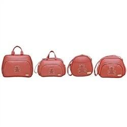 Conjunto de Bolsas Maternidade Fofura Vermelho