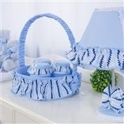 Quarto para Bebê sem Cama Babá Retrô Azul