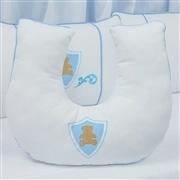 Almofada para Amamentação Urso Escudo Azul