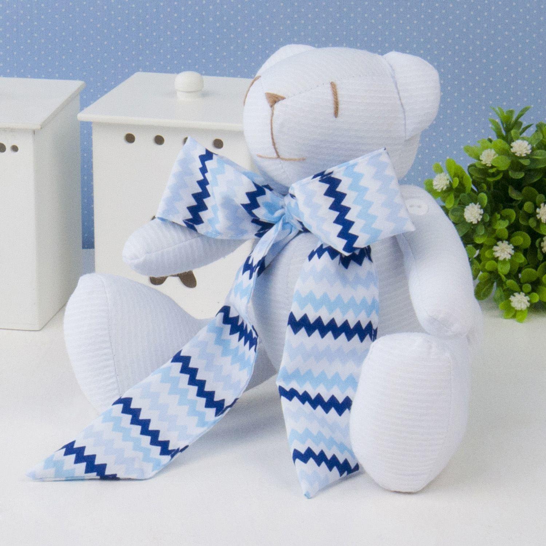 Urso P Gravata Azul Sianinha