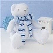 Urso M Gravata Azul Sianinha