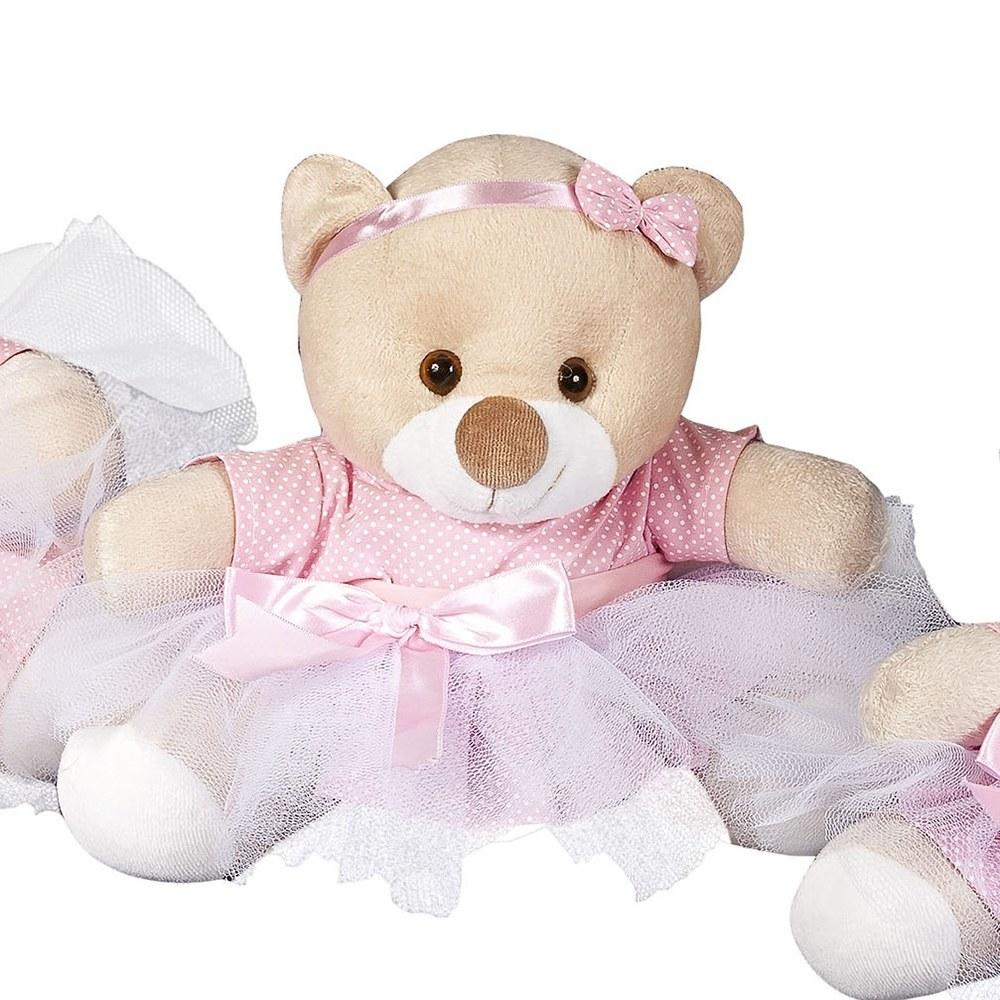 Enfeite M Ursa Bailarina Rosa