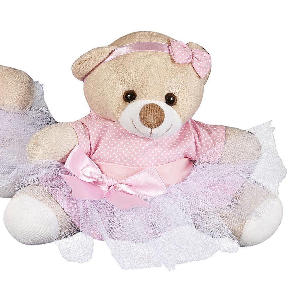 Enfeite P Ursa Bailarina Rosa