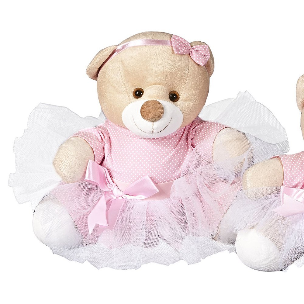 Enfeite G Ursa Bailarina Rosa