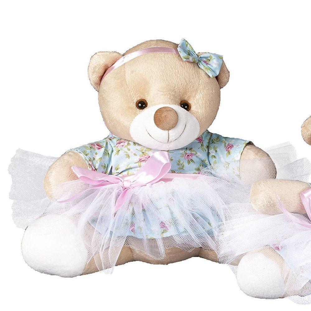 Enfeite G Ursa Bailarina Floral